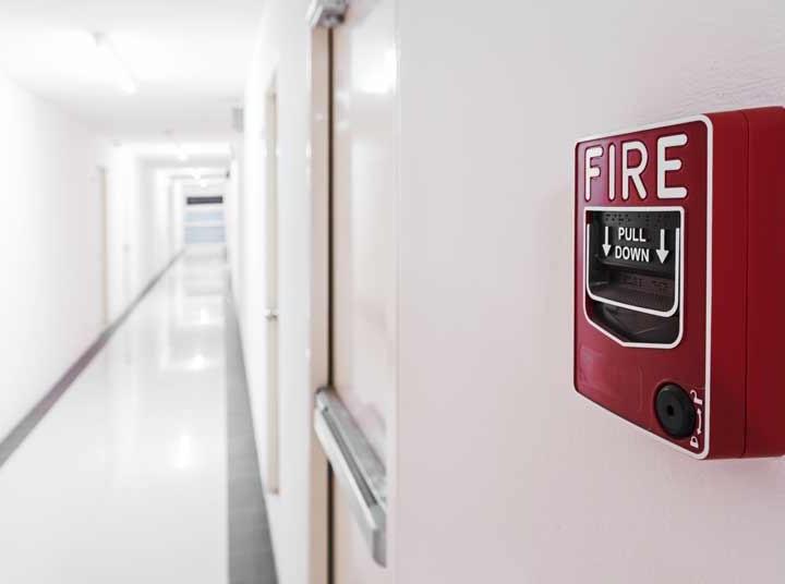 Hallway fire alarm
